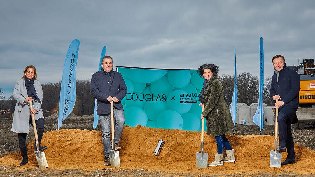 Baustart für automatisiertes Douglas-Distributionszentrum in Hamm