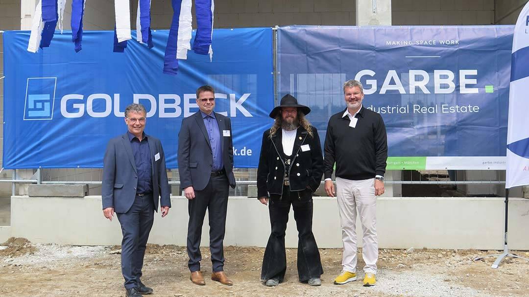 Garbe feiert Richtfest für Logistikzentrum in Rheinberg